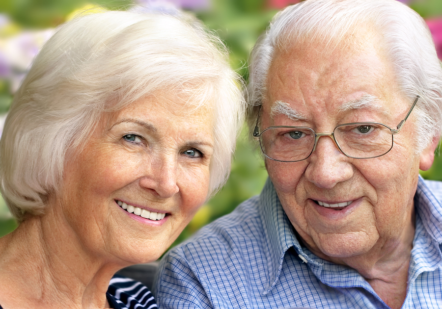 Elderly Couple With Dental Implants